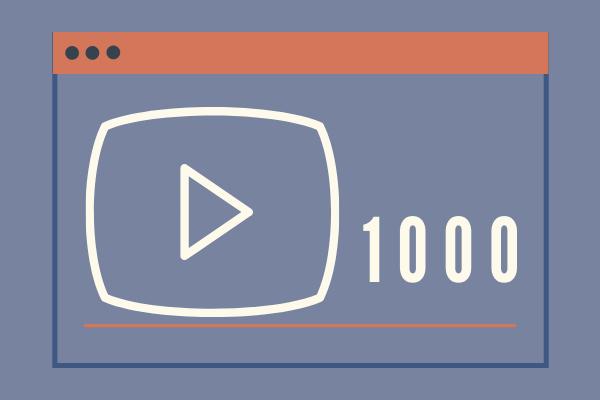 1k Views on YouTube